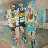 Runners at the bend - SOLD